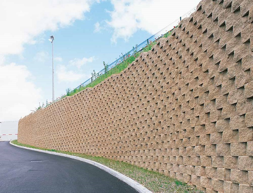 Muri Di Sostegno In Gabbioni.Muri Di Sostegno Rinforzati Mediante Sistemi Prefabbricati