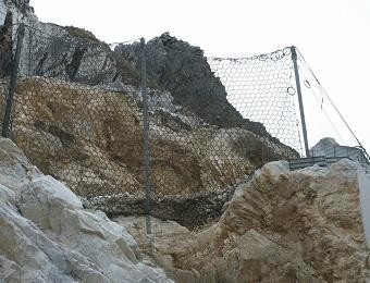 caduta massi in cava